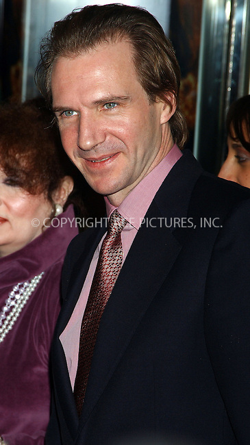 WWW.ACEPIXS.COM . . . . .  ....NEW YORK, NOVEMBER 21, 2005......Ralph Fiennes at the world benefit premiere of 'The White Countess' held at the Paris Theatre. ....Please byline: AJ Sokalner - ACE PICTURES..... *** ***..Ace Pictures, Inc:  ..Philip Vaughan (212) 243-8787 or (646) 769 0430..e-mail: info@acepixs.com..web: http://www.acepixs.com