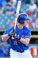 Round Rock third baseman Ed Lucas (19) during a baseball game, Saturday May 02, 2015 in Round Rock, Tex. Express defeated Sounds 5-4. (Mo Khursheed/TFV Media via AP images)