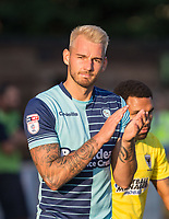 Max Muller of Wycombe Wanderers  ahead of the pre season friendly 'Cherry Red Records Cup' match between Wycombe Wanderers and AFC Wimbledon at Adams Park, High Wycombe, England on 25 July 2017. Photo by PRiME Media Images.