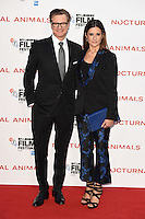 "Colin and Livia Firth<br /> at the London Film Festival 2016 premiere of ""Nocturnal Animals"" at the Odeon Leicester Square, London.<br /> <br /> <br /> ©Ash Knotek  D3179  14/10/2016"