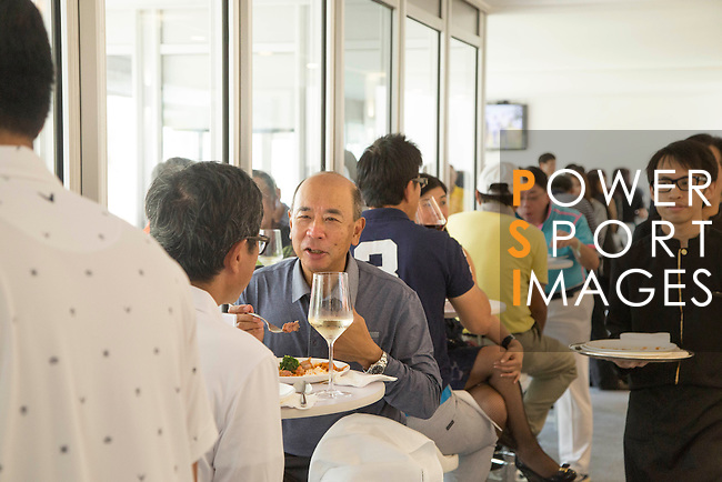 Participants enjoy lunch at the UBS Pavilion after the Am-Am tournament of the 58th UBS Hong Kong Golf Open as part of the European Tour on 13 December 2016, at the Hong Kong Golf Club, Fanling, Hong Kong, China. Photo by Vivek Prakash / Power Sport Images