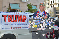 Bruce Smith of Youngstowns, Ohio showed support for President elect Donald Trump near Trump Towers on 5th Avenue.