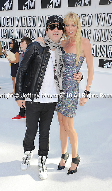 LOS ANGELES, CA. - September 12: Kevin Rudolf and Shauna Drew arrive at the 2010 MTV Video Music Awards held at Nokia Theatre L.A. Live on September 12, 2010 in Los Angeles, California.