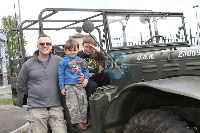 Tony, Daniel and Aaron Tully at the War Museum in Funtasia...(Photo Jenny Matthews/www.newsfile.ie)