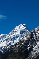 The English name of Aoraki Mount Cook was given to the mountain in 1851 by Captain John Lort Stokes to honor Captain James Cook who first surveyed and circumnavigated the islands of New Zealand in 1770. At 3754 meters, Aoraki Mount Cook is New Zealand's tallest peak.