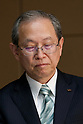 Toshiba Corp. President Satoshi Tsunakawa attends a news conference at the company headquarters on August 10, 2017, Tokyo, Japan. Tsunakawa reported approximate 965.7 billion yen ($8.8 billion) loss for its Fiscal Year 2016 to March 31, 2017. Toshiba avoided being delisted from Tokyo Stock Exchange by announcing its delayed financial results. (Photo by Rodrigo Reyes Marin/AFLO)