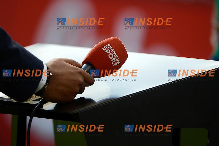 microfono Mediaset Sport<br /> Milano 25-09-2016 Stadio Giuseppe Meazza - Football Calcio Serie A Inter - Bologna. Foto Giuseppe Celeste / Insidefoto