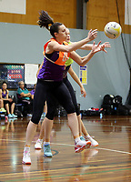 24.08.2017 Silver Ferns Bailey Mes in action during at the Silver Ferns training in Brisbane. Mandatory Photo Credit ©Michael Bradley.