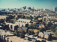1991 June.Redevelopment.E Ghent North (A-1-2)..Ghent Square aerial looming South...NEG#.NRHA#.#15.GS 3:2:20.