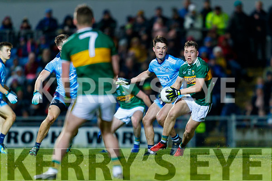Dara Moynihan Kerry in action against Eric Lowndes  Dublin during the Allianz Football League Division 1 Round 3 match between Kerry and Dublin at Austin Stack Park in Tralee, Kerry on Saturday night.