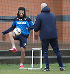 Kevin Mbabu working back to fitness with coach Jim Henry