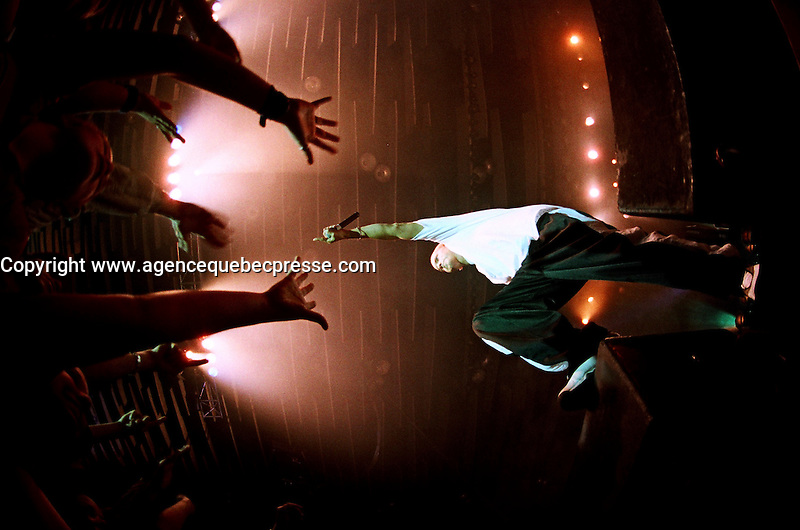 2000 File Photo, Montreal (Qc) CANADA<br /> Eminem in concert<br /> Photo : (c)  Pierre Rousel