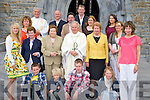Bishop Bill Murphy pictured with Lisa Whitford, Liam Daly, Daniel Whitford, Jennifer Whitford, Annie Murphy, Tessie Murphy, Mary Murphy, Yvonne Daly, Marion Murphy, Sheila Whitford, Paul Whitford, Michael Murphy, Archdeaccon Michael Murphy, Donal Daly, Anne Murphy and Siobhan Daly at the celebration of the Golden Jubilee of his ordination, in St Marys Cathedral, Killarney on Sunday evening.