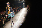 """March 23, 2012, Tokyo, Japan - A model walks down the catwalk wearing """"G.V.G.V."""" during Mercedes-Benz Fashion Week Tokyo 2012-13 Autumn/Winter. The Mercedes-Benz Fashion Week Tokyo runs from March 18-24. (Photo by Christopher Jue/AFLO)"""