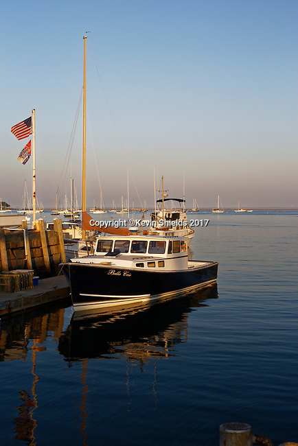 Pleasure boats, Rockland, Maine, USA