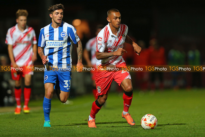 Connor Hunte of Stevenage during Stevenage vs Brighton & Hove Albion Under-23, Checkatrade Trophy Football at the Lamex Stadium on 4th October 2016
