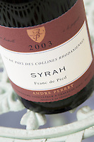 syrah franc pied andre perret vdp collines rhodaniennes ungrafted vines rhone france