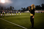 "March 14, 2009. Cary, NC.. The Carolina Railhawks went home in foul weather with a  1-0 victory over the New England Revolution of the MLS, in the inaugural ""Community Shield"" match and their first professional outing under new coach, Martin Rennie. . Danielle Fernandez sings the National Anthem."