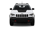 Car photography straight front view of a 2019 Jeep Cherokee Trailhawk 5 Door SUV