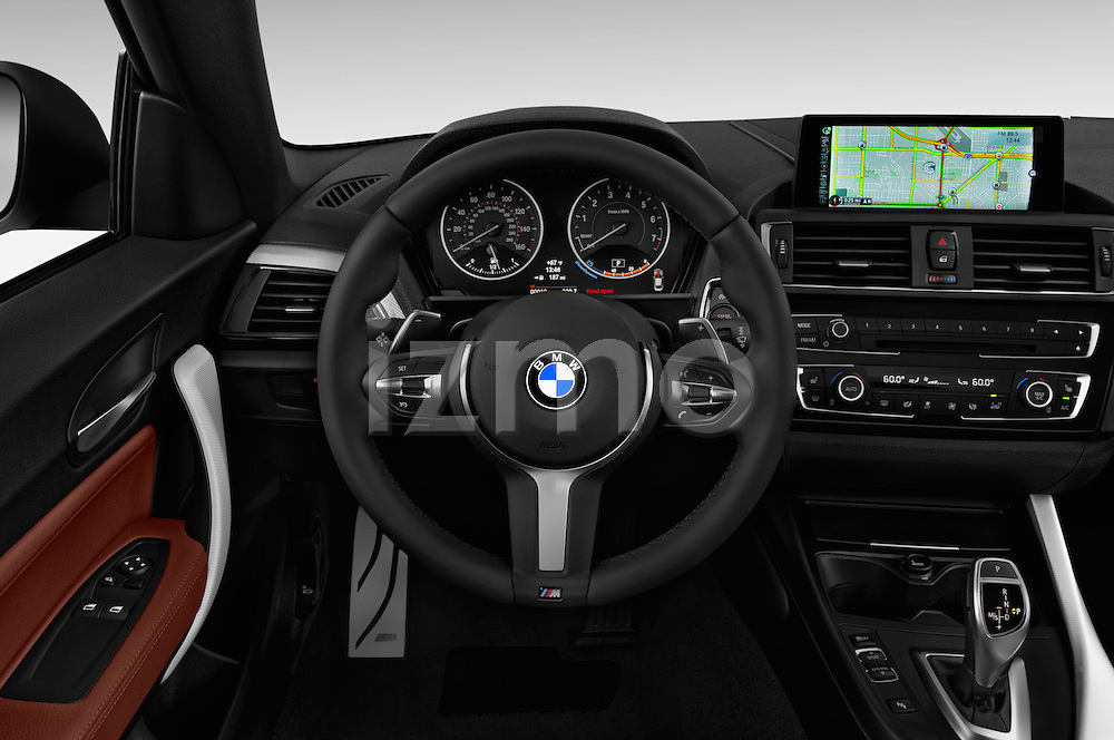 Car pictures of steering wheel view of a 2017 BMW 2-Series M240i 2 Door Coupe Steering Wheel