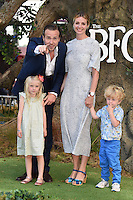 "Rafe Spall and Elize du Toit with family<br /> arrives for the ""BFG"" premiere at the Odeon Leicester Square, London.<br /> <br /> <br /> ©Ash Knotek  D3141  17/07/2016"