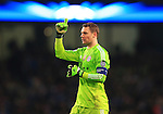Manuel Neuer of Munich celebrates his sides second goal - Manchester City vs. Bayern Munich - UEFA Champion's League - Etihad Stadium - Manchester - 25/11/2014 Pic Philip Oldham/Sportimage