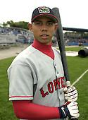 August 7, 2004:  Christian Lara of the Lowell Spinners, Single-A NY-Penn League affiliate of the Boston Red Sox, during a game at Dwyer Stadium in Batavia, NY.  Photo by:  Mike Janes/Four Seam Images
