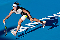 12th January 2020, Auckland, New Zealand;  Jessica Pegula (USA) in action against Serena Williams (USA) during the Women's singles final at the 2020 Women's ASB Classic at the ASB Tennis Centre, Auckland, New Zealand.