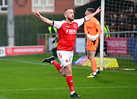 Fleetwood Town's Paddy Madden celebrates scoring his side's first goal <br /> <br /> Photographer Richard Martin-Roberts/CameraSport<br /> <br /> The EFL Sky Bet League One - Fleetwood Town v Doncaster Rovers - Wednesday 26th December 2018 - Highbury Stadium - Fleetwood<br /> <br /> World Copyright © 2018 CameraSport. All rights reserved. 43 Linden Ave. Countesthorpe. Leicester. England. LE8 5PG - Tel: +44 (0) 116 277 4147 - admin@camerasport.com - www.camerasport.com