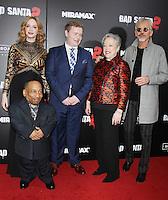 NEW YORK, NY November 15:Christina Hendricks, Tony Cox, Brett Kelly, Kathy Bates, Billy Bob Thornton at Broad Green Picture & Miramax's presents New York premiere of BAD SANTA 2 at AMC Loews Lincoln Square in New York City.November 15, 2016. Credit:RW/MediaPunch