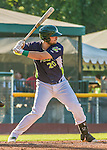 1 September 2014: Vermont Lake Monsters infielder Ryan Huck in action against the Tri-City ValleyCats at Centennial Field in Burlington, Vermont. The ValleyCats defeated the Lake Monsters 3-2 in NY Penn League play. Mandatory Credit: Ed Wolfstein Photo *** RAW Image File Available ****