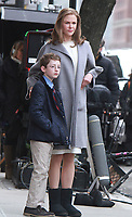 NEW YORK, NY - MARCH 12: Ryan Foust and Nicole Kidman on the set of The Goldfinch in New York City on March 12, 2018. <br /> CAP/MPI/RW<br /> &copy;RW/MPI/Capital Pictures