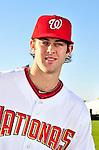 28 February 2010: Washington Nationals starting pitcher Aaron Thompson poses for his Spring Training photo at Space Coast Stadium in Viera, Florida. Mandatory Credit: Ed Wolfstein Photo