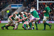 17th March 2018, Twickenham, London, England; NatWest Six Nations rugby, England versus Ireland; Tadhg Furlong of Ireland is tackled