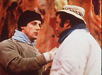 Rocky (1976) <br /> Sylvester Stallone &amp; Burt Young<br /> *Filmstill - Editorial Use Only*<br /> CAP/KFS<br /> Image supplied by Capital Pictures