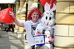 Pix: Shaun Flannery/shaunflanneryphotography.com...COPYRIGHT PICTURE>>SHAUN FLANNERY>01302-570814>>07778315553>>..19th March 2011...............Lakeside Village, Doncaster..Comic Relief Event..Cheryl Sadler & Patsy Panks prepare for the fun run.