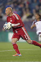 New England Revolution goalkeeper Matt Reis (1). In a Major League Soccer (MLS) match, the New England Revolution tied the Colorado Rapids, 0-0, at Gillette Stadium on May 7, 2011.