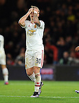 An unhappy Guillermo Varela of Manchester United<br /> - Barclays Premier League - Bournemouth vs Manchester United - Vitality Stadium - Bournemouth - England - 12th December 2015 - Pic Robin Parker/Sportimage