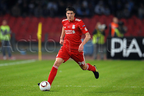 21.10.2010 Liverpool manager Roy Hodgson's gamble in leaving at home a handful of his senior players paid off in some respect as his side claimed a well-earned Europa League draw against Napoli in the Stadio San Paolo. Picture shows Martin Kelly Liverpool.