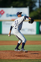 Princeton Rays starting pitcher Resly Linares (30) in action against the Burlington Royals at Burlington Athletic Stadium on June 24, 2016 in Burlington, North Carolina.  The Rays defeated the Royals 16-2.  (Brian Westerholt/Four Seam Images)