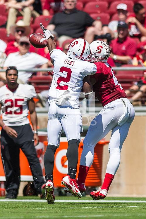 STANFORD, CA - April 12, 2014:  Wayne Lyons during the Stanford Cardinal Spring Football game at Stanford Stadium in Stanford, CA.
