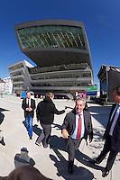 Vienna, Austria. Opening Day of the new WU Campus (University of Economics).<br /> Austrian President Heinz Fischer (red tie).
