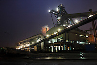 A view of Ma Steel's new plant at night in Maanshan, China..29 Dec 2008.