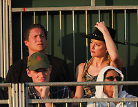 LONDON, ENGLAND - JULY 06: Amber Heard and new her beau 31 year old Vito Schnabel (Heidi Klum's ex Boyfriend)snuggle and stare at each other as they attend day five of the Wimbledon Tennis Championships at the All England Lawn Tennis and Croquet Club on July 6, 2018 in London, England<br /> CAP/MPI122<br /> &copy;MPI122/Capital Pictures