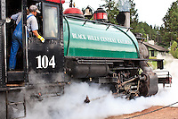 The Black Hills Central Railroad 1880 Train rides in Hill City, South Dakota on August 14, 2010.