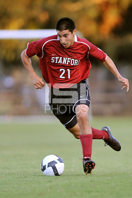 STANFORD, CA - AUGUST 25:  Daniel Leon of the Stanford Cardinal during Stanford's 0-0 tie with the St. Mary's Gaels on August 25, 2009 at Laird Q. Cagan Stadium in Stanford, California.