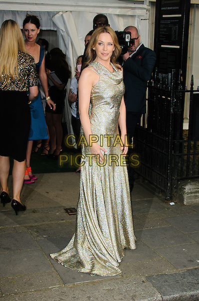 Kylie Minogue.Women Of The Year 2012 - Glamour Awards, Berkeley Square, London, England..29th May 2012.full length gold silver dress sparkly sleeveless  .CAP/CJ.©Chris Joseph/Capital Pictures.