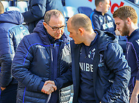 Preston North End manager Alex Neil greets Nottingham Forest manager Martin O'Neill before kick off<br /> <br /> Photographer Alex Dodd/CameraSport<br /> <br /> The EFL Sky Bet Championship - Preston North End v Nottingham Forest - Saturday 16th February 2019 - Deepdale Stadium - Preston<br /> <br /> World Copyright © 2019 CameraSport. All rights reserved. 43 Linden Ave. Countesthorpe. Leicester. England. LE8 5PG - Tel: +44 (0) 116 277 4147 - admin@camerasport.com - www.camerasport.com