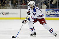 16 January 2006: New York Rangers' Dominic Moore plays against the Columbus Blue Jackets at Nationwide Arena in Columbus, Ohio.<br />