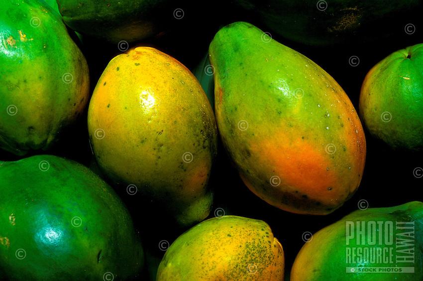 Sunrise (strawberry) papayas from the Island of Kauai